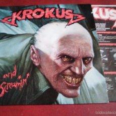 Discos de vinilo: KROKUS ALIVE AND SCREAMIN´ ANVIL. Lote 57131225