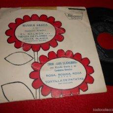 Discos de vinilo: MANOLO GRACIA&CONJUNTO EL SALMON/TIENDA DE FLORES...+TRIO LOS LLANEROS ROSA ROSINA ROSA +1 EP 1960. Lote 57132482