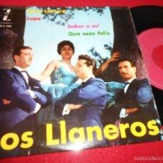 Discos de vinilo: LOS LLANEROS ALMA LLANERA/LUPE/SABOR A MI/QUE SEAS FELIZ EP 1962 ZAFIRO. Lote 57132500