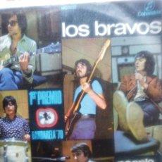 Discos de vinilo: DISCO DE LOS BRAVOS SINGLES DE 2 CANCIONES DE 1970 PRIMER PREMIO BARBERETA.70 PEOPLE TALKIHG AROUND. Lote 57137062