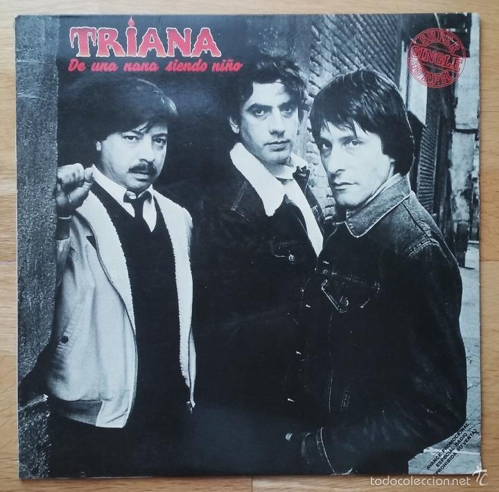 TRIANA RARO MAXI PROMO 'DE UNA NANA SIENDO NIÑO' 1983 (Música - Discos de Vinilo - Maxi Singles - Grupos Españoles de los 70 y 80)