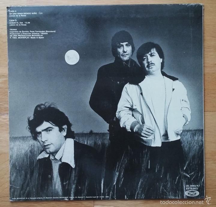 Discos de vinilo: TRIANA RARO MAXI PROMO 'DE UNA NANA SIENDO NIÑO' 1983 - Foto 2 - 57138805