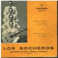 Discos de vinilo: LOS BOCHEROS - ESTAMPAS BILBAINAS Nº 2 / ESTAMPAS BILBAINAS Nº 3 - EP 1959. Lote 57140169