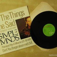 Discos de vinilo: SIMPLE MINDS - ALL THE THINGS SHE SAID (EXTENDED) - VINILO ORIGINAL 1986 EDICION VIRGIN. Lote 57143307