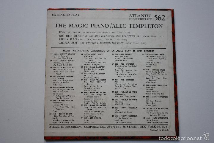Discos de vinilo: ALEC TEMPLETON- THE MAGIC PIANO- IDA- USA EP 1960- EXC. CONDITION. - Foto 2 - 57148163