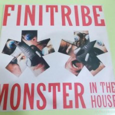 Discos de vinilo: FINITRIBE - MONSTER IN THE HOUSE - 1989 - EBM. Lote 57150628