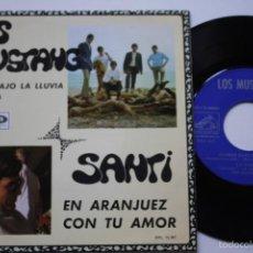 Discos de vinilo: LOS MUSTANG- FLORES BAJO LA LLUVIA +2- EP 1967- FIRMADO POR MIGUEL NAVARRO DEL LOS MUSTANG.. Lote 57154042