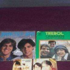 Discos de vinilo: VINILOS TRÉBOL,PANCHO Y JAVI, JUAN Y JÚNIOR, TRE. Lote 57154775