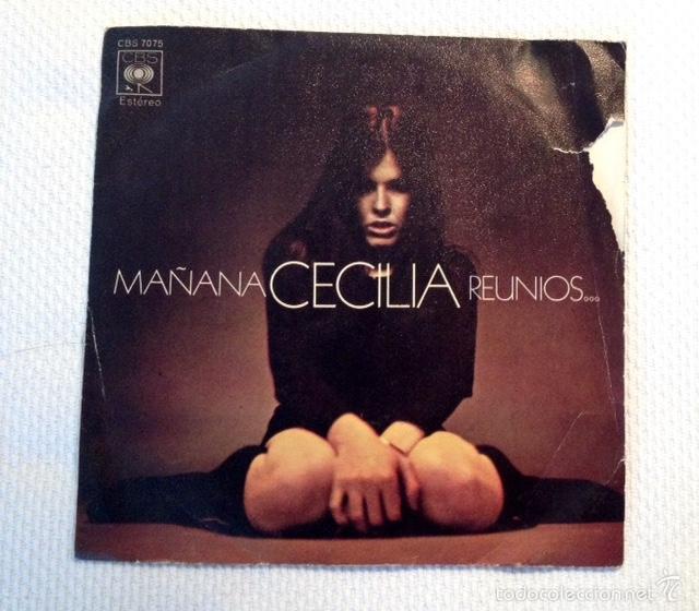 CECILIA: MAÑANA / REUNÍOS... (1971) PRIMER SINGLE CBS 7075. MUY RARO EN MERCADO. (Música - Discos - Singles Vinilo - Solistas Españoles de los 70 a la actualidad)