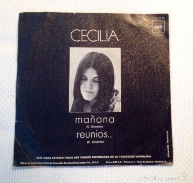 Discos de vinilo: Cecilia: Mañana / Reuníos... (1971) Primer single CBS 7075. Muy raro en mercado. - Foto 2 - 57155643