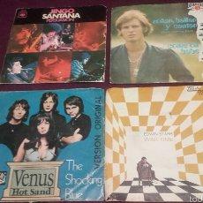Discos de vinilo: VINILOS ALFIE KHAN,EDWIN STARR, THE SHOCKING BLUE Y SANTANA.. Lote 57157598