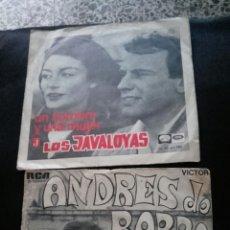 Discos de vinilo: VINILOS LOS JAVALOYAS Y ANDRÉS DOBARRO.. Lote 57158394