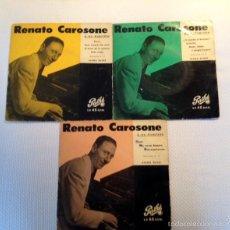 Discos de vinilo: [LOTE DE CONJUNTO: ] 3 EP DE RENATO CAROSONE Y SU CUARTETO (TODOS 1958); VER TÍTULOS.. Lote 57158766