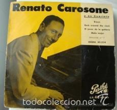 Discos de vinilo: [lote de conjunto: ] 3 EP de Renato Carosone y su cuarteto (todos 1958); ver títulos. - Foto 2 - 57158766