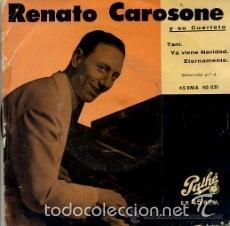 Discos de vinilo: [lote de conjunto: ] 3 EP de Renato Carosone y su cuarteto (todos 1958); ver títulos. - Foto 3 - 57158766