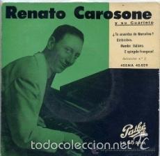 Discos de vinilo: [lote de conjunto: ] 3 EP de Renato Carosone y su cuarteto (todos 1958); ver títulos. - Foto 4 - 57158766