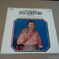 Discos de vinilo: JIM REEVES - THE BEST OF JIM REEVES VOLUME III (LP 1969, RCA VICTOR LSP-4187). Lote 57161562