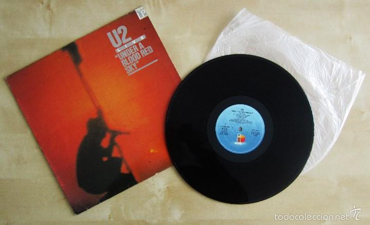 U2 - LIVE UNDER A BLOOD RED SKY - MINI ALBUM VINILO ORIGINAL 1983 PRIMERA EDICION ISLAND (Música - Discos de Vinilo - EPs - Pop - Rock - New Wave Extranjero de los 80)