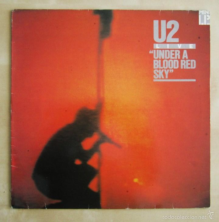 Discos de vinilo: U2 - LIVE UNDER A BLOOD RED SKY - MINI ALBUM VINILO ORIGINAL 1983 PRIMERA EDICION ISLAND - Foto 2 - 57168106