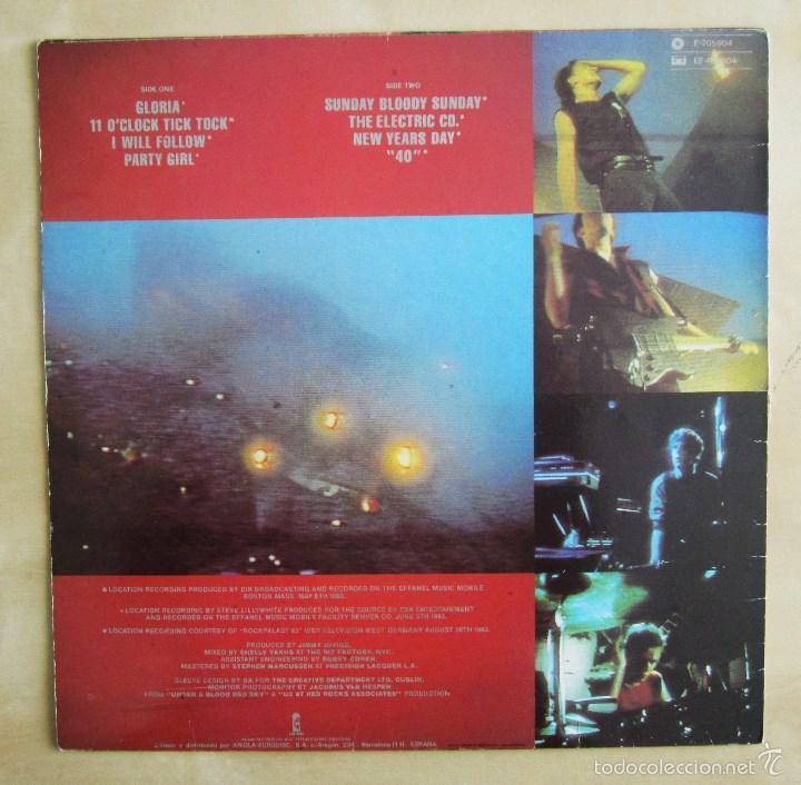 Discos de vinilo: U2 - LIVE UNDER A BLOOD RED SKY - MINI ALBUM VINILO ORIGINAL 1983 PRIMERA EDICION ISLAND - Foto 4 - 57168106