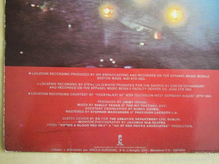 Discos de vinilo: U2 - LIVE UNDER A BLOOD RED SKY - MINI ALBUM VINILO ORIGINAL 1983 PRIMERA EDICION ISLAND - Foto 5 - 57168106