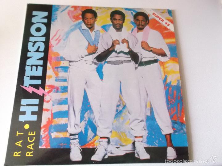HI TENSION - RAT RACE - 1984 ZAFIRO (Música - Discos de Vinilo - Maxi Singles - Funk, Soul y Black Music)