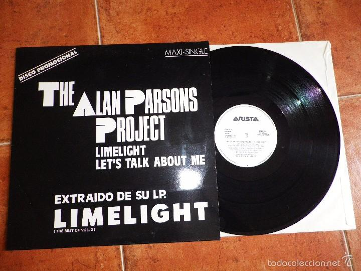 THE ALAN PARSONS PROJECT LIMELIGHT MAXI SINGLE PROMO ESPAÑOL DEL AÑO 1987 CONTIENE 4 TEMAS (Música - Discos de Vinilo - Maxi Singles - Pop - Rock - New Wave Extranjero de los 80)