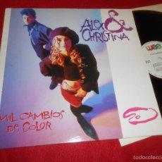 Discos de vinilo: ALEX Y CHRISTINA MIL CAMBIOS DE COLOR (LARGA)/YO QUIERO SER YO +1 12 MX 1987 WEA MOVIDA POP. Lote 57199680