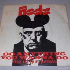 Dischi in vinile: THE RODS, DO ANYTHING YOU WANNA DO (HAZ LO QUE QUIERAS). SCHOOLGIRL LOVE. ARIOLA. ISLAND 11933A 1977. Lote 57202648