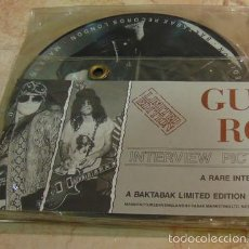 Discos de vinilo: GUNS N' ROSES – LIMITED EDITION INTERVIEW PICTURE DISC COLLECTION - 4 SINGLES PICTURE DISC 1988. Lote 57206055