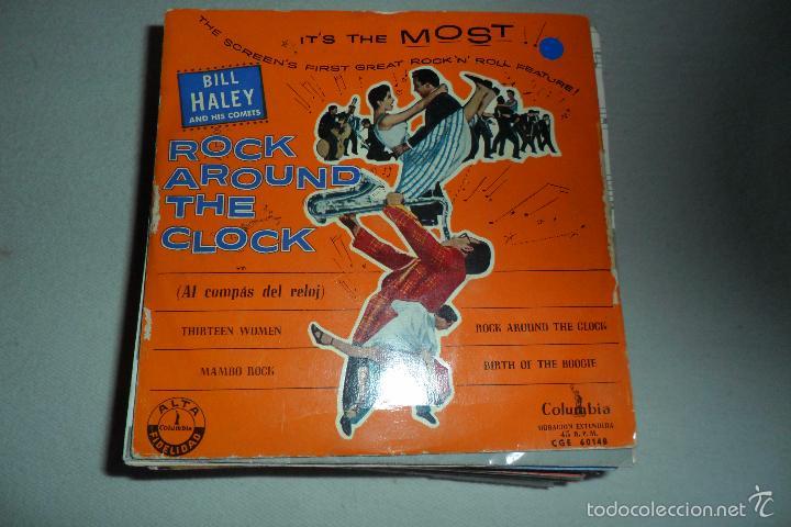 BILL HALEY - ROCK AROUND THE CLOCK - THIRTEEN WOMEN + 3 EP (Música - Discos de Vinilo - EPs - Rock & Roll)