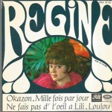 Discos de vinil: REGINE EP SELLO EMI-PATHE EDITADO EN ESPAÑA AÑO 1967. Lote 57217460
