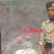 Discos de vinilo: BABYFACE-IT'S NO CRIME(5 VERSIONES)-1989. Lote 57218923