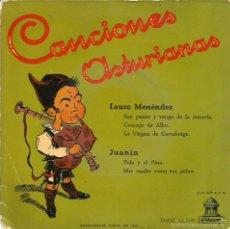 Dischi in vinile: EP ASTURIAS FOLK : CANCIONES ASTURIANAS POR LAURO MENENDEZ Y JUANIN. Lote 57219115