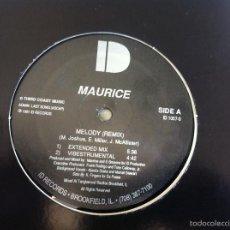 Discos de vinilo: 12 MAXI-MAURICE-MELODY-REMIX. Lote 57222802