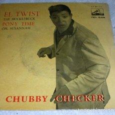 Discos de vinil: CHUBBY CHECKER - THE TWIST + 3 - EP 1962. Lote 76681447