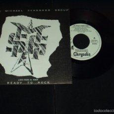 Discos de vinilo: MICHAEL SCHENKER GROUP SINGLE LISTO PARA EL ROCK PROMOCIONAL . Lote 57238292