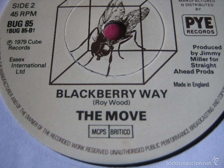 THE MOVE SG CUBE RECORDS / PYE FLOWERS IN THE RAIN/ BLACKBERRY WAY MOD ART POP BEAT (Música - Discos - Singles Vinilo - Pop - Rock Extranjero de los 50 y 60)