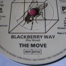 Discos de vinilo: THE MOVE SG CUBE RECORDS / PYE FLOWERS IN THE RAIN/ BLACKBERRY WAY MOD ART POP BEAT . Lote 57240558