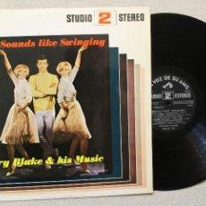 Discos de vinilo: GARRY BLAKE Y SU ORQUESTA MORE SOUNDS LIKE SWINGIN RITMOS PARA BAILAR LP VINILO MADE IN SPAIN 1966. Lote 57240948