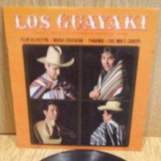 Discos de vinilo: LOS GUAYAKI. FLOR SILVESTRE + 3. EP / CONCERT HALL / CON USO DE LA ÉPOCA. ***/***. Lote 57243272