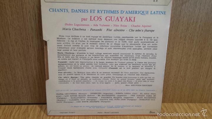 Discos de vinilo: LOS GUAYAKI. FLOR SILVESTRE + 3. EP / CONCERT HALL / CON USO DE LA ÉPOCA. ***/*** - Foto 2 - 57243272