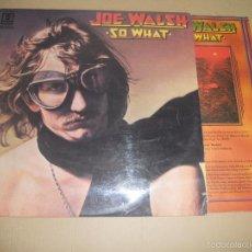 Discos de vinilo: JOE WALSH (LP) SO WHAT AÑO 1975 - CON ENCARTE INTERIOR. Lote 57252157