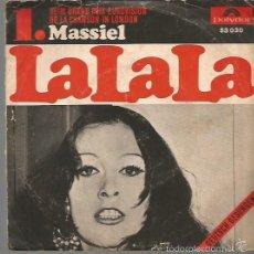Discos de vinilo: MASSIEL EN ALEMAN SINGLE SELLO POLYDOR AÑO 1968 EDITADO EN ALEMANIA FESTIVAL DE EUROVISION. Lote 57258935