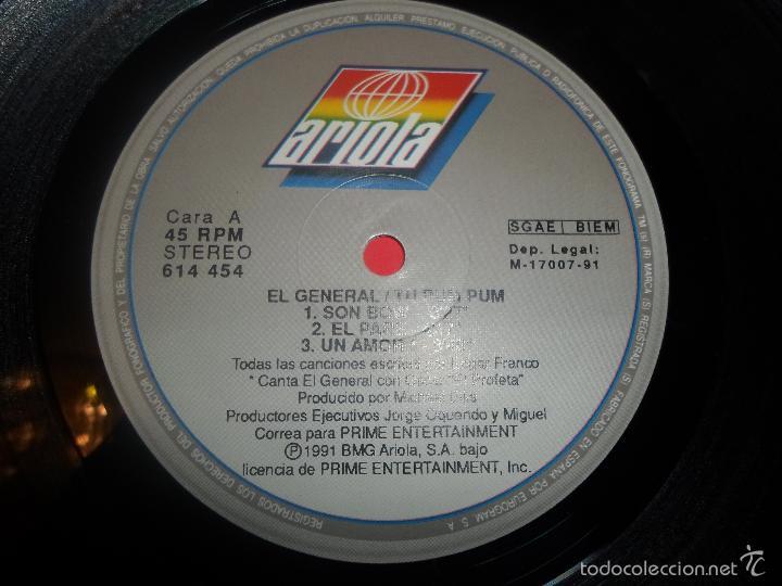 Discos de vinilo: EL GENERAL – TU PUM PUM - Foto 2 - 57260508