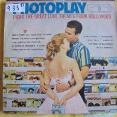 Discos de vinilo: LP - PHOTOPLAY-PICKS THE GREAT LOVE THEMES FROM HOLLYWOOD (SPAIN, WB RECORDS 1962). Lote 100529543
