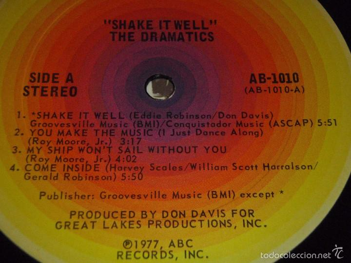 Discos de vinilo: THE DRAMATICS ( SHAKE IT WELL ) USA - 1977 LP33 ABC RECORDS - Foto 4 - 57262394