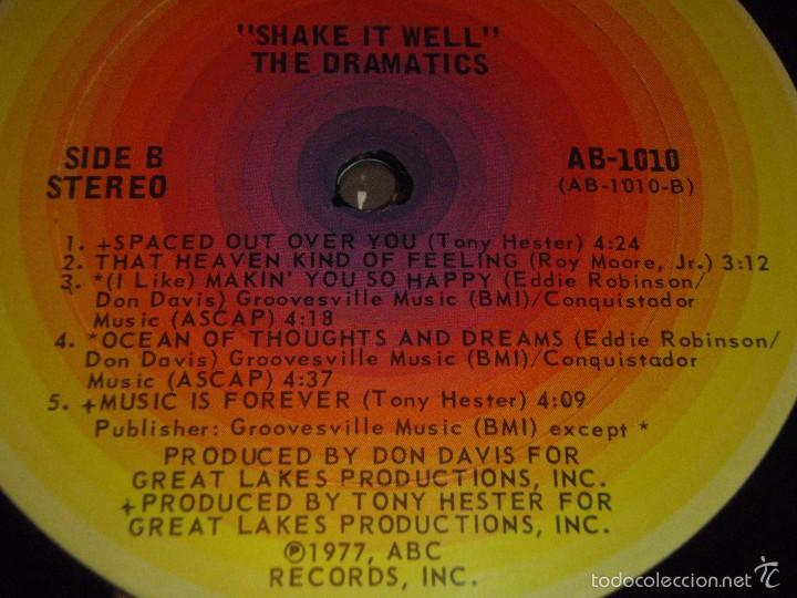 Discos de vinilo: THE DRAMATICS ( SHAKE IT WELL ) USA - 1977 LP33 ABC RECORDS - Foto 5 - 57262394