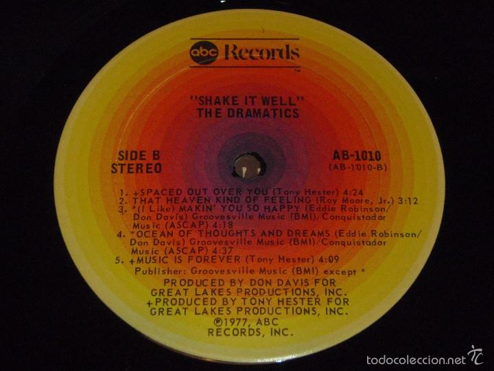 Discos de vinilo: THE DRAMATICS ( SHAKE IT WELL ) USA - 1977 LP33 ABC RECORDS - Foto 6 - 57262394
