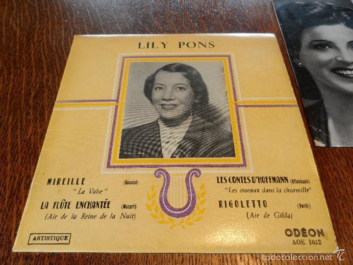 Discos de vinilo: LILY PONS Y LICIA ALBANESE, 2 GRANDES DE LA ÓPERA. 2 EPS, 45 RPM, ODEÓN Y R.C.A. - Foto 2 - 57263373